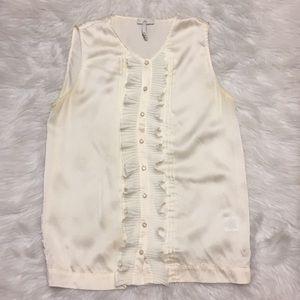 Joie Ruffled sleeveless blouse. Size medium